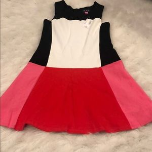 Pink color-block holiday dress new with tags!!